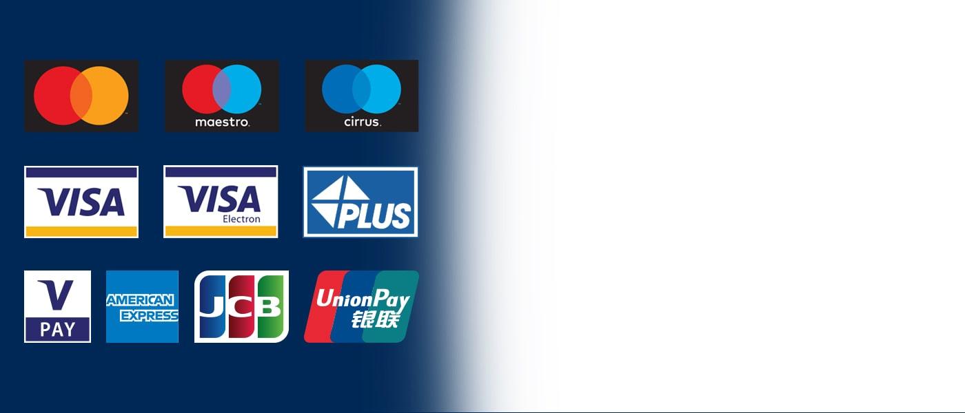 Os ATMs da Euronet aceitam todos os cartões principais